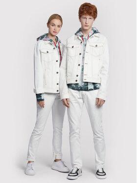 Vistula Vistula Jeansová bunda Unisex Egon White RX1032 Bílá Regular Fit