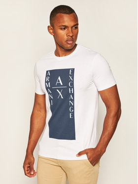 Armani Exchange Armani Exchange T-shirt 6HZTAM ZJLDZ 1100 Bianco Slim Fit