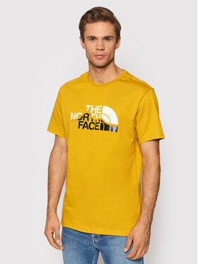 The North Face The North Face Тишърт Mount Line NF00A3G2H9D1 Жълт Regular Fit