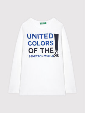 United Colors Of Benetton United Colors Of Benetton Blúz 3I1XC151S Fehér Relaxed Fit