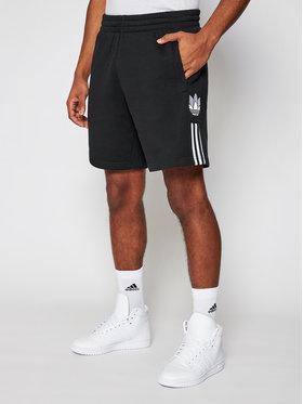 adidas adidas Sport rövidnadrág adicolor 3D Trefoil 3-Stripes GN5508 Fekete Regular Fit