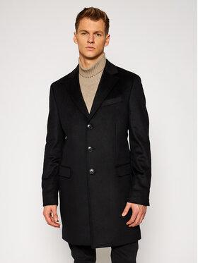 Tommy Hilfiger Tailored Tommy Hilfiger Tailored Μάλλινο παλτό Wool Blend TT0TT08117 Μαύρο Regular Fit