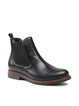 Tamaris Tamaris Členková obuv s elastickým prvkom 1-25056-27 Čierna