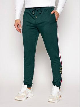 TOMMY HILFIGER TOMMY HILFIGER Spodnie dresowe Monogram MW0MW15254 Zielony Regular Fit