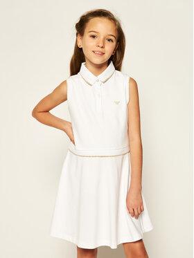 Emporio Armani Emporio Armani Kleid für den Alltag 3H3A35 1J46Z 0100 Weiß Regular Fit