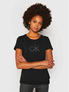Calvin Klein Calvin Klein Póló Ck Stud Logo K20K202155 Fekete Regular Fit