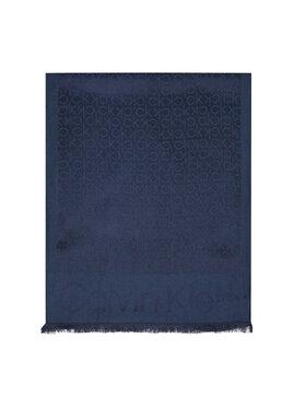 Calvin Klein Calvin Klein Πασμίνα Monogram Jacquard Scard K50K507438 Σκούρο μπλε