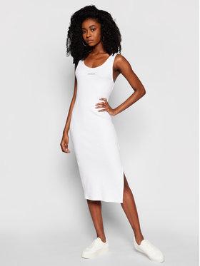 Calvin Klein Jeans Calvin Klein Jeans Sukienka codzienna J20J216177 Biały Slim Fit