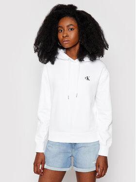 Calvin Klein Jeans Calvin Klein Jeans Bluza Embroidered Logo J20J213178 Biały Regular Fit