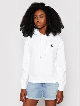 Calvin Klein Jeans Calvin Klein Jeans Mikina Embroidered Logo J20J213178 Biela Regular Fit