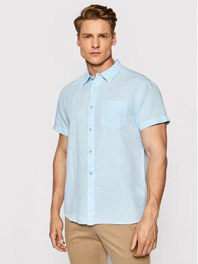 Wrangler Wrangler Koszula Ss 1 Pkt W5J7LOXVT Niebieski Regular Fit
