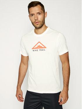 NIKE NIKE Maglietta tecnica Dri-FIT Tee Trail CT3857 Bianco Standard Fit