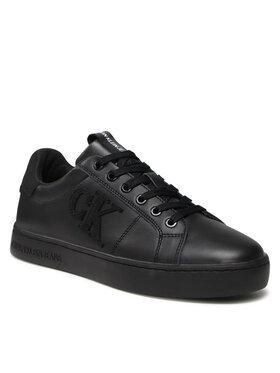 Calvin Klein Jeans Calvin Klein Jeans Sneakersy Cupsole Laceup Sneaker Logo YM0YM00285 Czarny