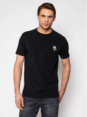 KARL LAGERFELD KARL LAGERFELD T-Shirt Crewneck 755025 511221 Černá Regular Fit