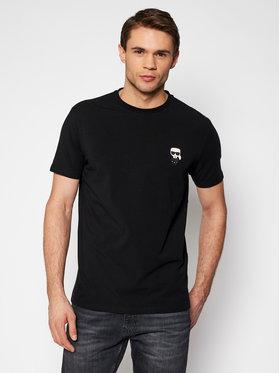 KARL LAGERFELD KARL LAGERFELD T-shirt Crewneck 755025 511221 Crna Regular Fit