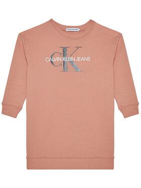 Calvin Klein Jeans Calvin Klein Jeans Sukienka codzienna Monogram Shine IG0IG00712 Różowy Regular Fit