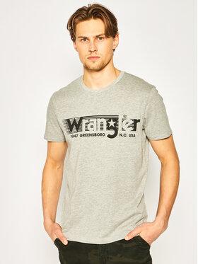 Wrangler Wrangler Тишърт Tee W7D2FQX37 Сив Regular Fit