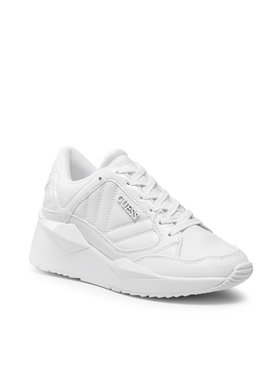 Guess Guess Sneakersy Traves FL7TRS ELE12 Biały