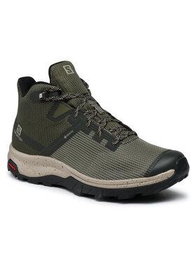 Salomon Salomon Παπούτσια πεζοπορίας Outline Prism Mid Gtx GORE-TEX 411201 26 M0 Πράσινο