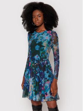 Desigual Desigual Každodenní šaty Qais 21WWVK81 Modrá Regular Fit