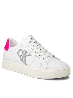 Calvin Klein Jeans Calvin Klein Jeans Sneakersy Cupsole Laceup Sneaker Logo YW0YW00398 Bílá