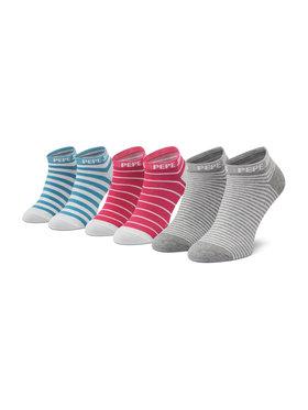 Pepe Jeans Pepe Jeans Súprava 3 párov členkových dámskych ponožiek Belinda PLU10577 Ružová