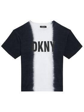 DKNY DKNY Póló D35R31 D Fekete Regular Fit