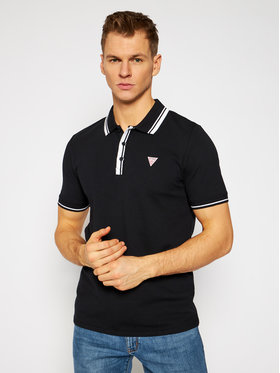 Guess Guess Polo marškinėliai M1RP60 K7O61 Juoda Slim Fit