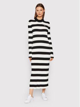 Lacoste Lacoste Плетена рокля EF7044 Черен Slim Fit