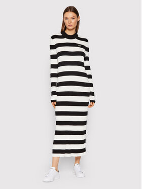 Lacoste Lacoste Трикотажна сукня EF7044 Чорний Slim Fit