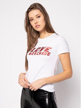 LOVE MOSCHINO LOVE MOSCHINO T-shirt W4F7358E 1698 Bijela Regular Fit