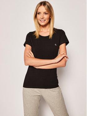 Calvin Klein Underwear Calvin Klein Underwear Komplet 2 t-shirtów Lounge 000QS6442E Czarny Regular Fit