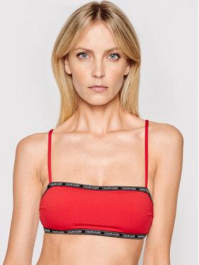 Calvin Klein Swimwear Calvin Klein Swimwear Góra od bikini Bandeau KW0KW01274 Czerwony