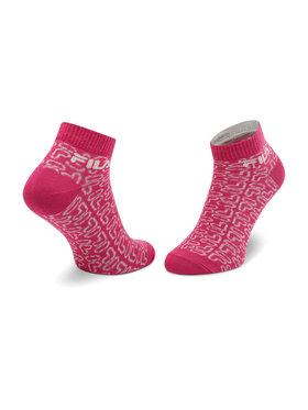 Fila Fila Σετ 3 ζευγάρια κοντές κάλτσες γυναικείες Calza F6106 Ροζ