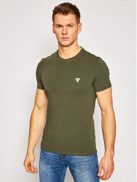 Guess Guess T-Shirt M1RI24 J1311 Zielony Super Slim Fit