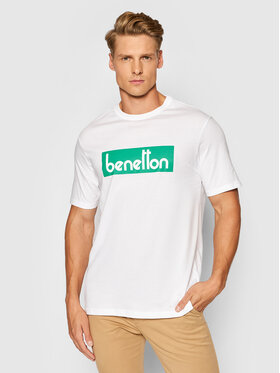 United Colors Of Benetton United Colors Of Benetton Тишърт 3096J17H6 Бял Regular Fit