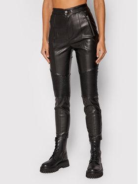 Pepe Jeans Pepe Jeans Spodnie z imitacji skóry Alexa PL211475 Czarny Slim Fit