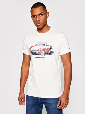 Pepe Jeans Pepe Jeans T-Shirt Gary PM507755 Weiß Regular Fit