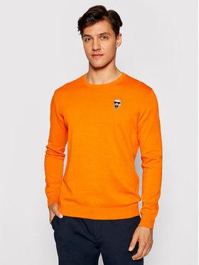 KARL LAGERFELD KARL LAGERFELD Megztinis 655008 511398 Oranžinė Regular Fit