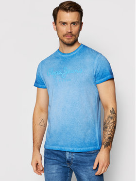 Pepe Jeans Pepe Jeans T-shirt West Sir PM504032 Blu Regular Fit