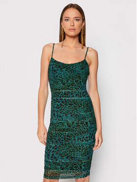 Guess Guess Rochie cocktail Brynlee W1BK67 K2X53 Verde Slim Fit