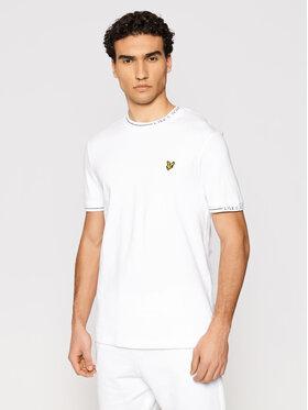 Lyle & Scott Lyle & Scott T-Shirt Seasonal Branded Ringer TS1419V Biały Regular Fit