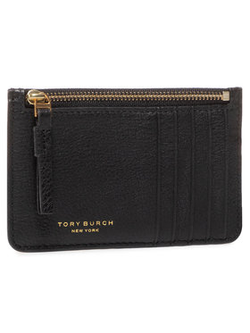 Tory Burch Tory Burch Etui na karty kredytowe Perry Top-Zip Card Case 61075 Czarny