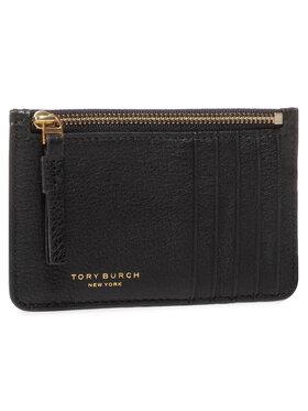 Tory Burch Tory Burch Puzdro na kreditné karty Perry Top-Zip Card Case 61075 Čierna