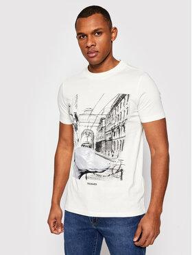Trussardi Trussardi Marškinėliai Pure 52T00459 Balta Regular Fit