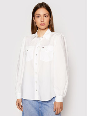 Tommy Jeans Tommy Jeans Chemise Puffy DW0DW10454 Blanc Regular Fit