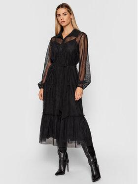 TWINSET TWINSET Koktejlové šaty 212AT2200 Černá Regular Fit