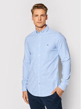 Tommy Hilfiger Tommy Hilfiger Marškiniai Core Stretch Slim Oxford Shirt MW0MW03745 Mėlyna Slim Fit