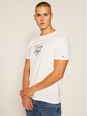 TOMMY HILFIGER TOMMY HILFIGER T-Shirt Logo UM0UM02245 Bílá Regular Fit
