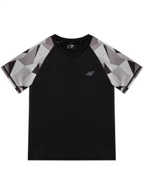 4F 4F T-Shirt HJL21-JTSM014A Černá Regular Fit